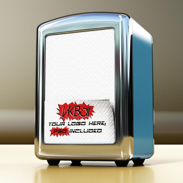 napkin dispenser 1 3d model 3ds max fbx obj 147076