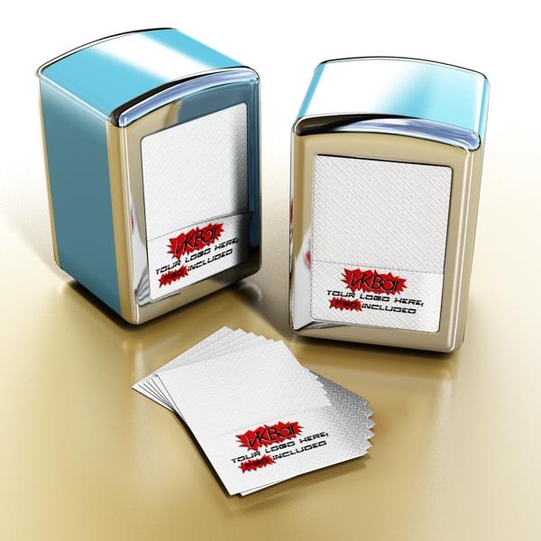 napkin dispenser 1 3d model 3ds max fbx obj 147077