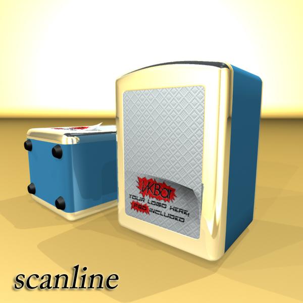 napkin dispenser 1 3d model 3ds max fbx obj 147080