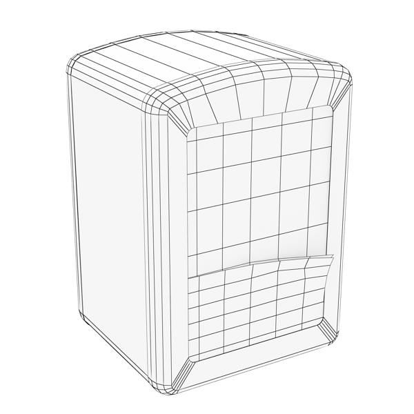 napkin dispenser 1 3d model 3ds max fbx obj 147082