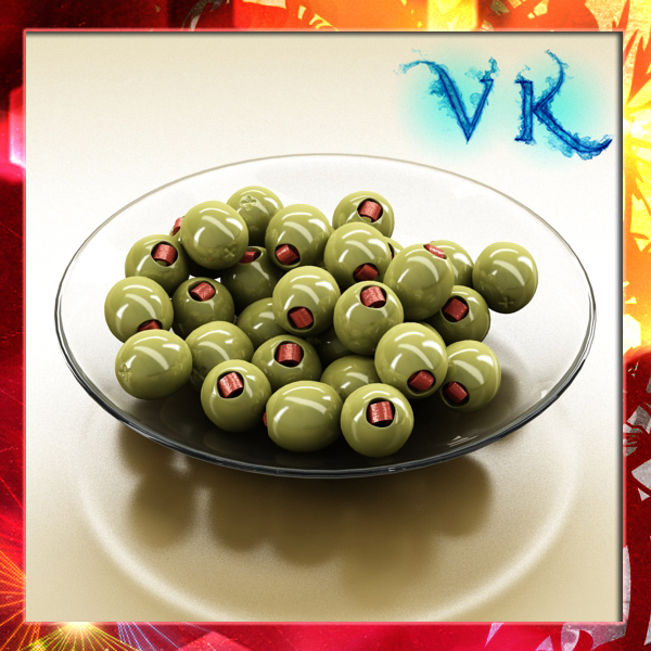 olives plate 3d model 3ds max fbx obj 148056