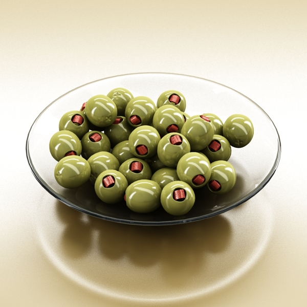 olives plate 3d model 3ds max fbx obj 148057