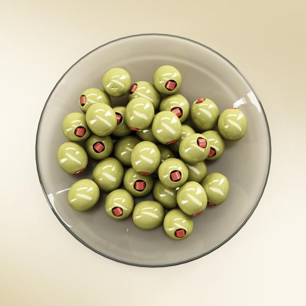 olives plate 3d model 3ds max fbx obj 148058