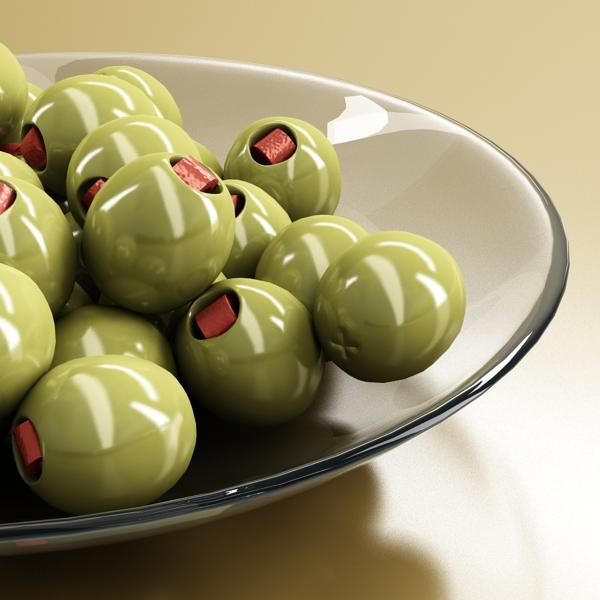 olives plate 3d model 3ds max fbx obj 148059