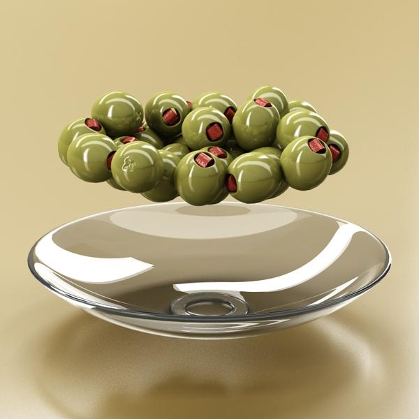 olives plate 3d model 3ds max fbx obj 148060