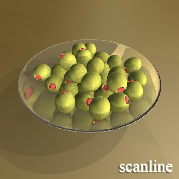 olives plate 3d model 3ds max fbx obj 148063