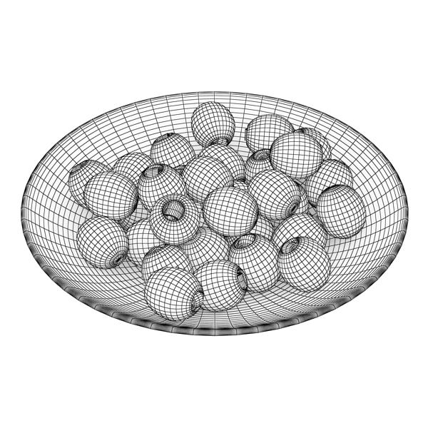 olives plate 3d model 3ds max fbx obj 148064
