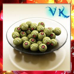 Olives Plate  ( 315.19KB jpg by VKModels )