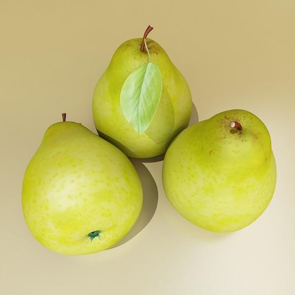 pear high resolution 3d model 3ds max obj 132880