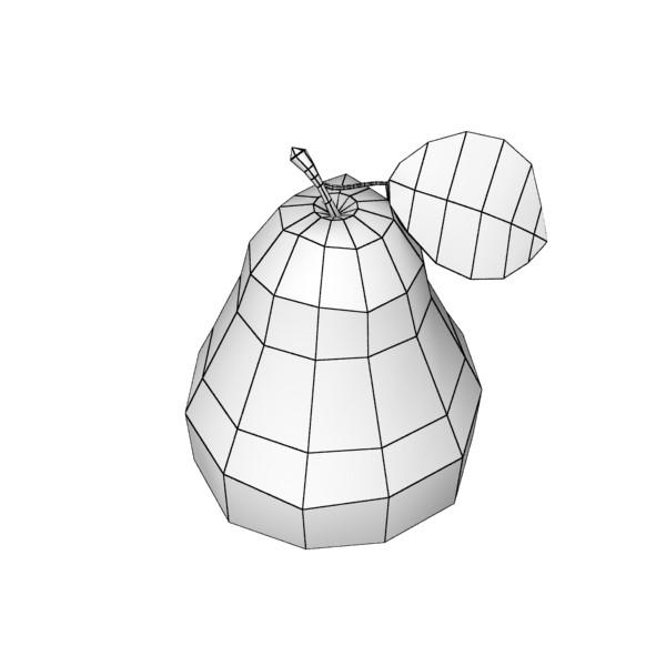 pear high resolution 3d model 3ds max obj 132883