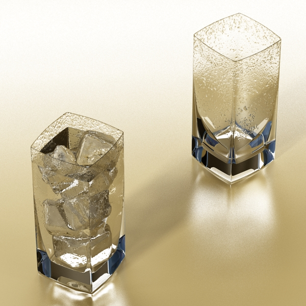 photorealistic glass 4 3d model 3ds max fbx obj 140722