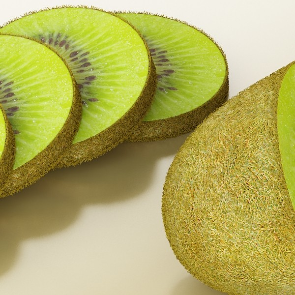 photorealistic kiwi fruit 3d model 3ds max fbx obj 132765