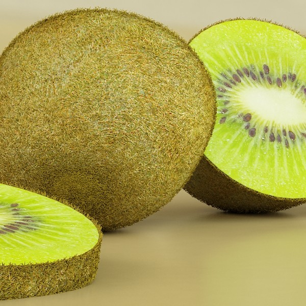 photorealistic kiwi fruit 3d model 3ds max fbx obj 132766