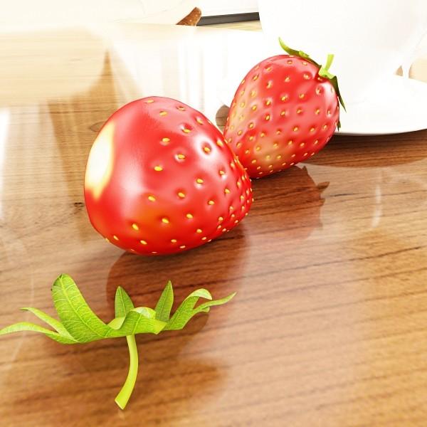 photorealistic strawberry high res 3d model 3ds max fbx obj 133170