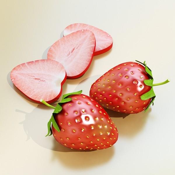 photorealistic strawberry high res 3d model 3ds max fbx obj 133171