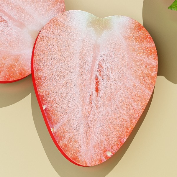 photorealistic strawberry high res 3d model 3ds max fbx obj 133172