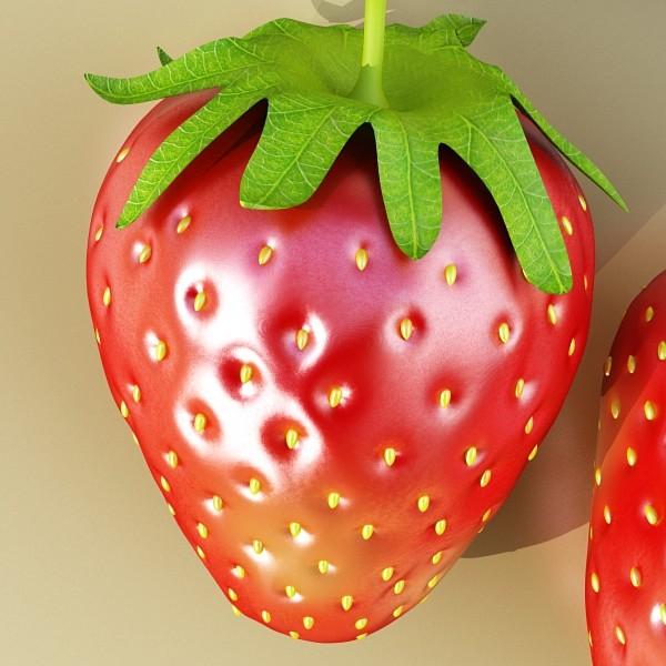 photorealistic strawberry high res 3d model 3ds max fbx obj 133173