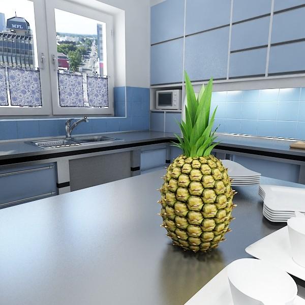 pineapple high detail 3d model 3ds max fbx obj 132982