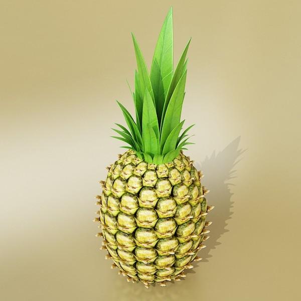 pineapple high detail 3d model 3ds max fbx obj 132987