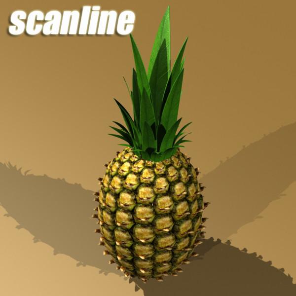 pineapple high detail 3d model 3ds max fbx obj 132988