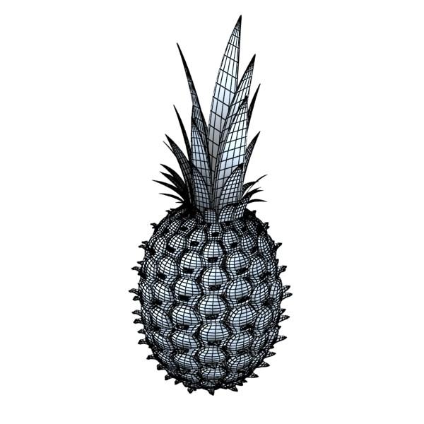 pineapple high detail 3d model 3ds max fbx obj 132989