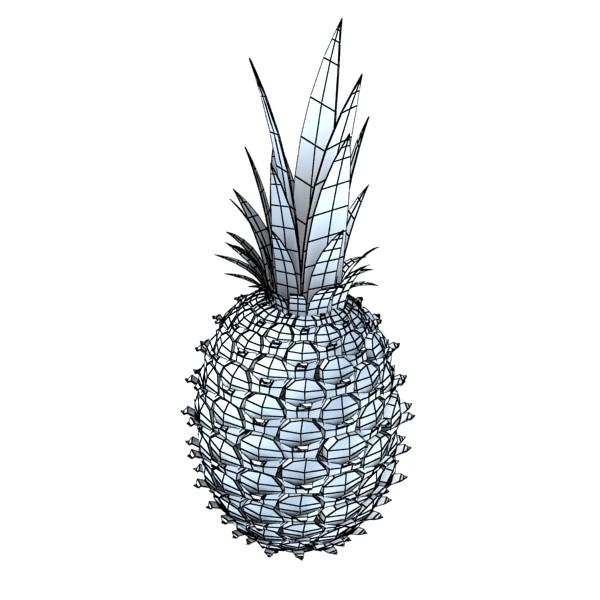 pineapple high detail 3d model 3ds max fbx obj 132990