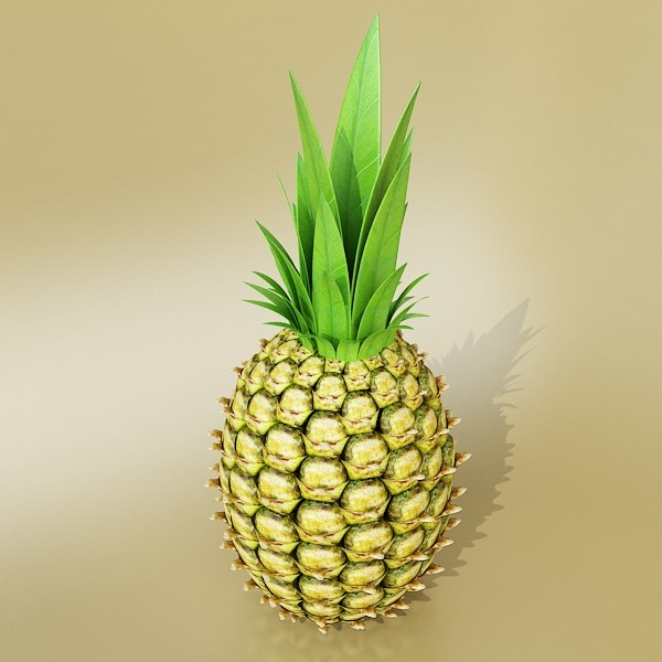 pineapples in wicker basket 10 3d model 3ds max fbx obj 133004