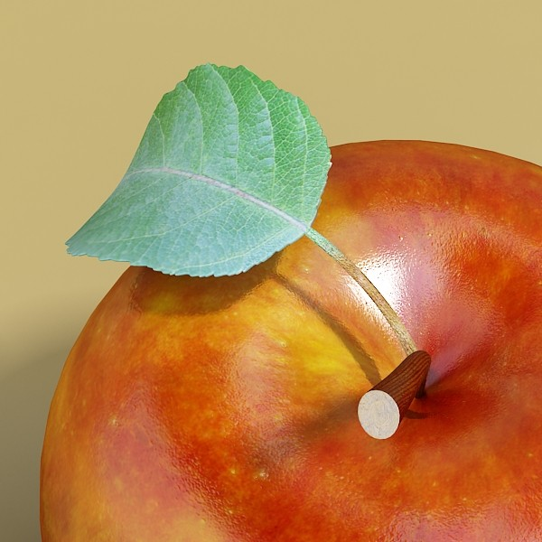 red apple high detail 3d model 3ds max fbx obj 132665