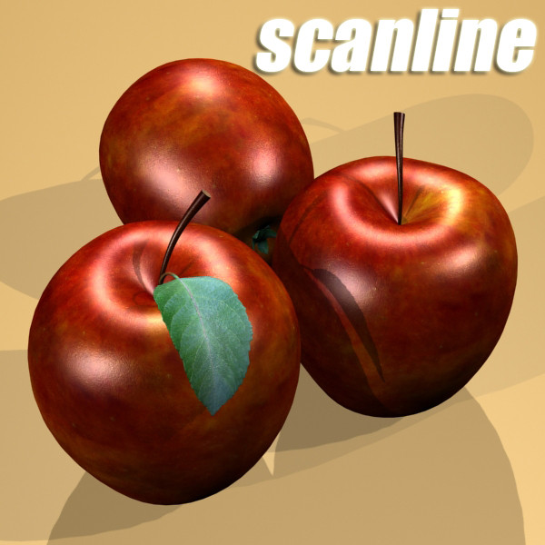 red apple high detail 3d model 3ds max fbx obj 132667