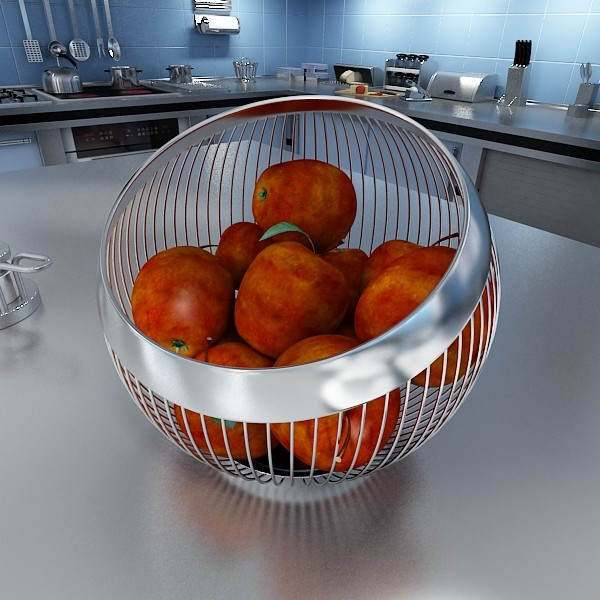 red apples in decorative metal wire container 3d model 3ds max fbx obj 132681
