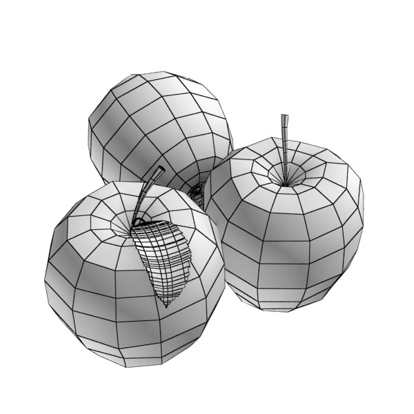 red apples in decorative metal wire container 3d model 3ds max fbx obj 132696