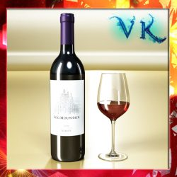 Red Wine Bottle Fog Mountain and Cup ( 269.22KB jpg by VKModels )