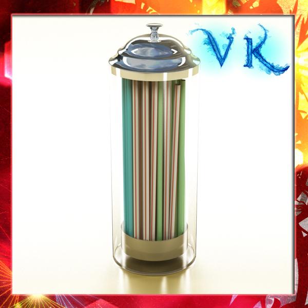 straw dispenser 3d model 3ds max fbx obj 147755