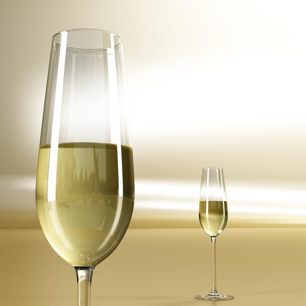 цагаан дарсны лонх, аяга 2 3d загвар 3ds max fbx obj 145254