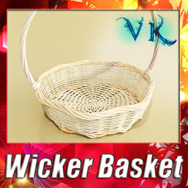 wicker basket 3d model 3ds max fbx obj 132823