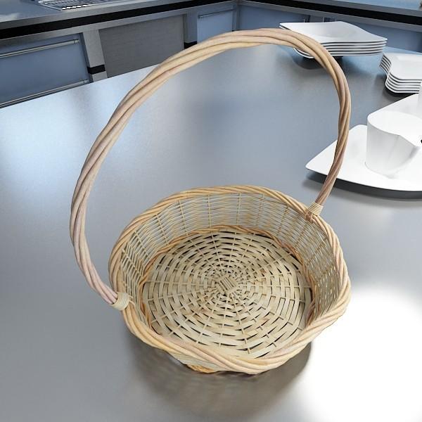 wicker basket 3d model 3ds max fbx obj 132824