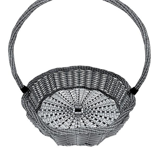 wicker basket 3d model 3ds max fbx obj 132831