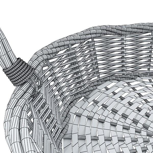wicker basket 3d model 3ds max fbx obj 132832