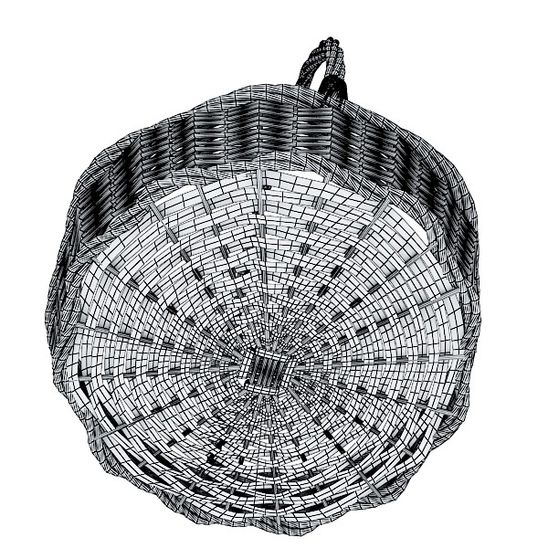 wicker basket 3d model 3ds max fbx obj 132833