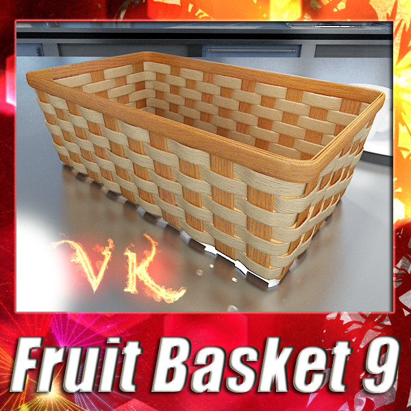 wicker fruit or bread basket 3d model 3ds max fbx obj 132972