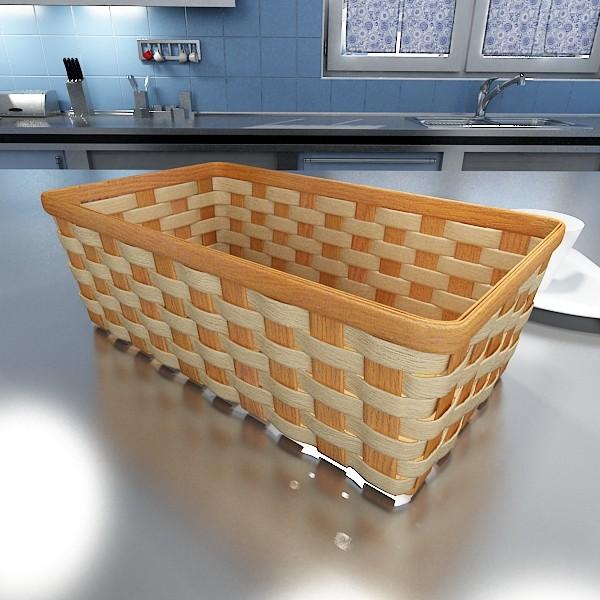 wicker fruit or bread basket 3d model 3ds max fbx obj 132974