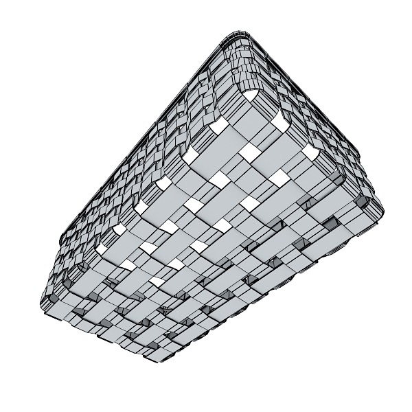wicker fruit or bread basket 3d model 3ds max fbx obj 132979