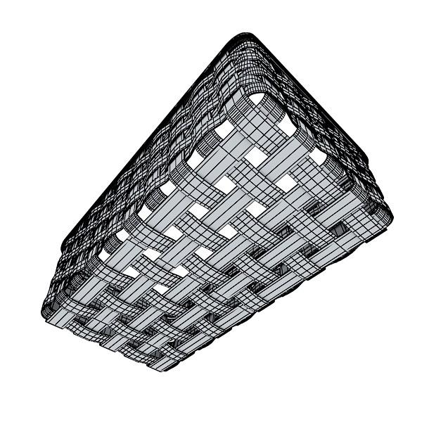 wicker fruit or bread basket 3d model 3ds max fbx obj 132980