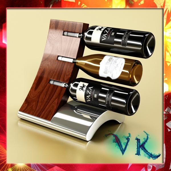 vīna pudeles plaukts 2 3d modelis 3ds max fbx obj 145813