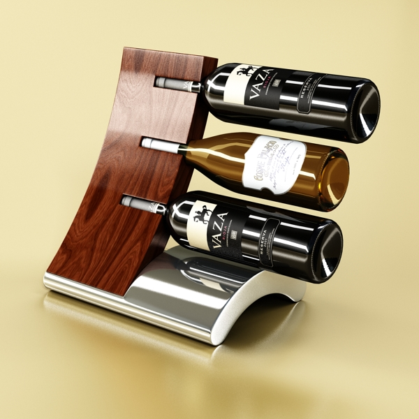 wine bottles rack 2 3d model 3ds max fbx obj 145814