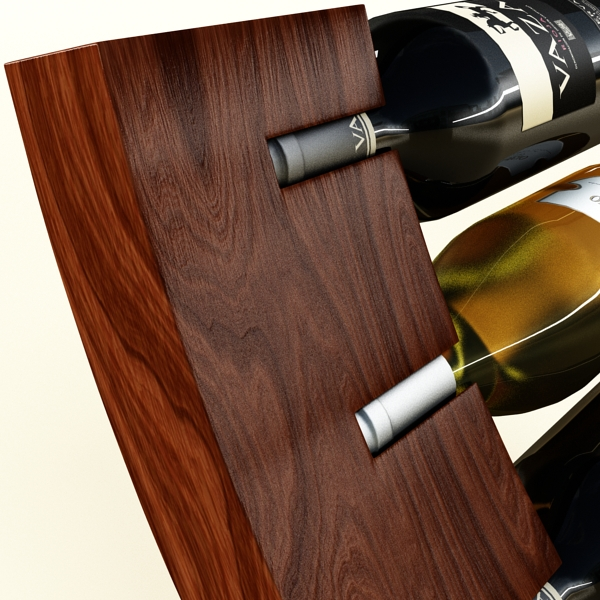 wine bottles rack 2 3d model 3ds max fbx obj 145816