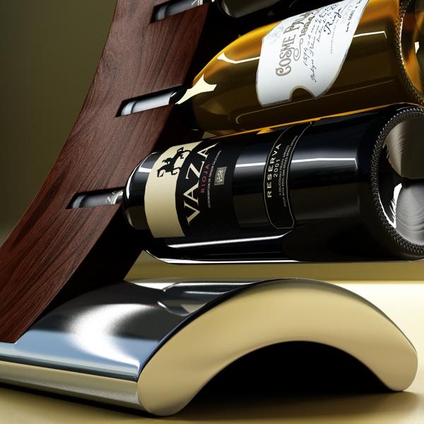wine bottles rack 2 3d model 3ds max fbx obj 145817