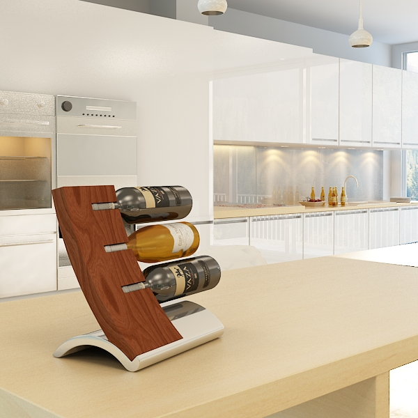 wine bottles rack 2 3d model 3ds max fbx obj 145820