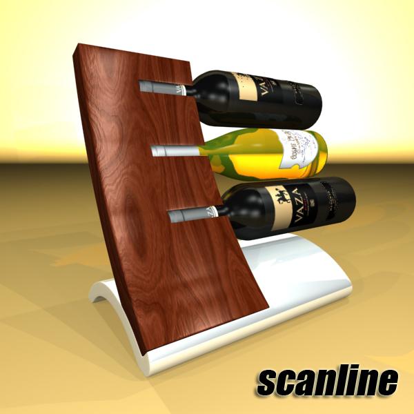 wine bottles rack 2 3d model 3ds max fbx obj 145821