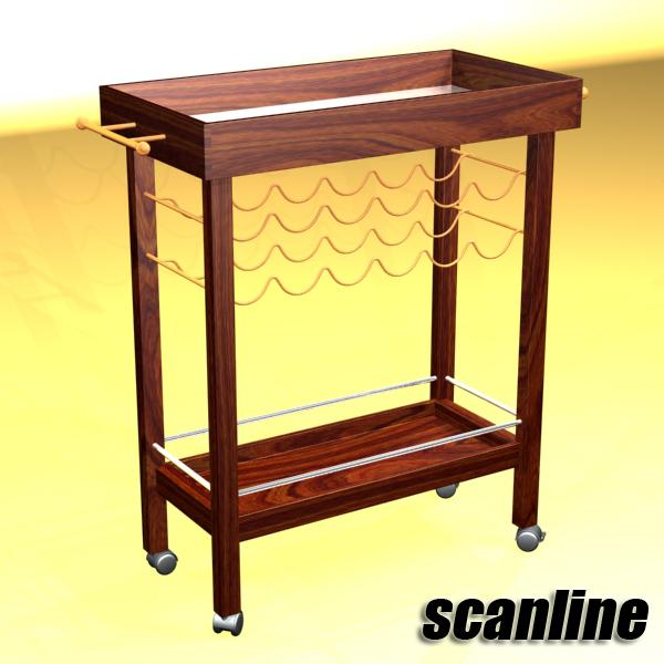 wine table rack 1 3d model 3ds max fbx obj 146573
